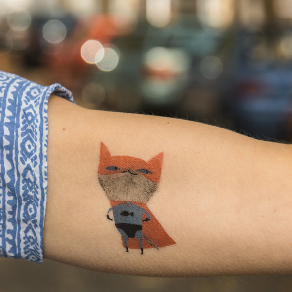 Temporary Tattoo - Supercat (2er Set)